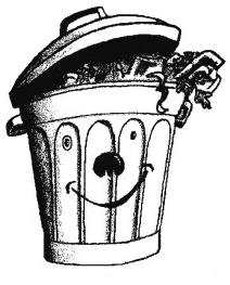 poubelle légère