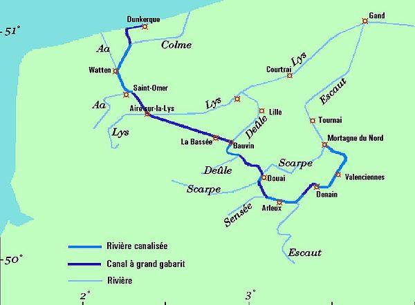 liaison fluviale canal dunkerque escaut