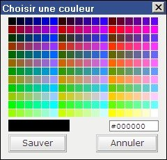 sélection de couleurs pour blog