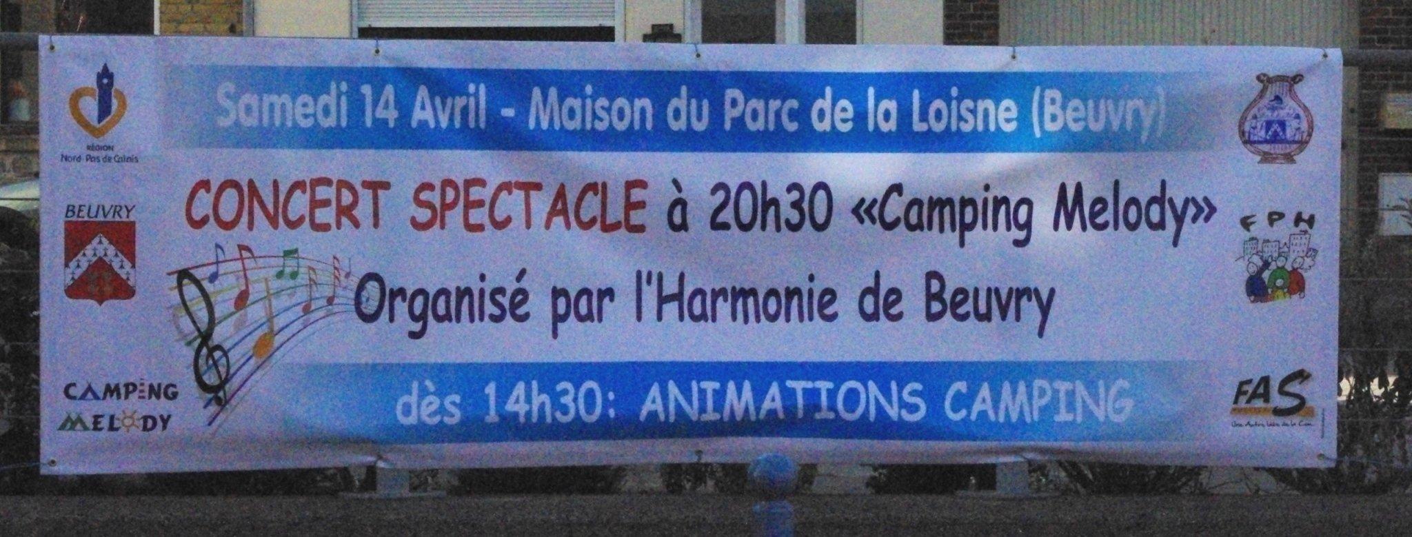 14 avril 2012 à Beuvry - Camping Melody : Après-midi festive et Concert Spectacle BACHE