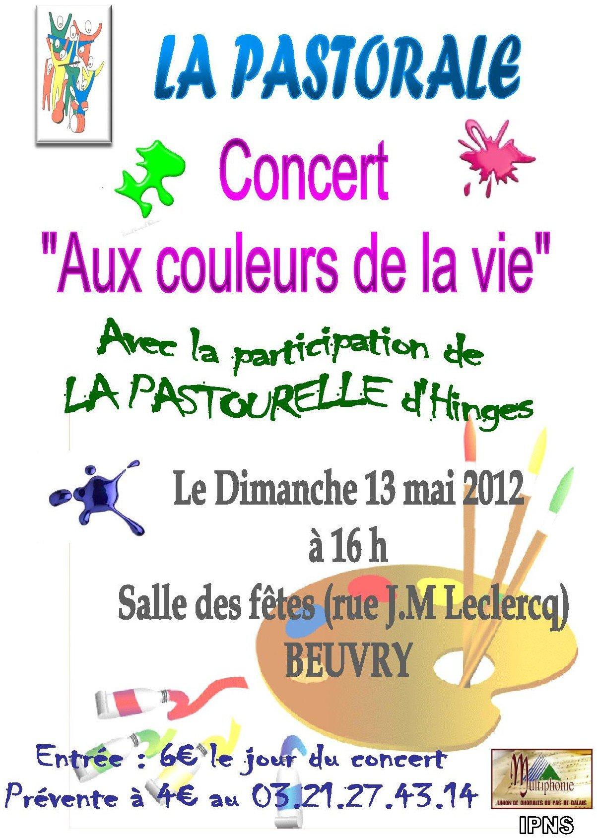 Concert de « La Pastorale » à Beuvry dans Associations Affiche-concert-PASTORALE-13-05-2012