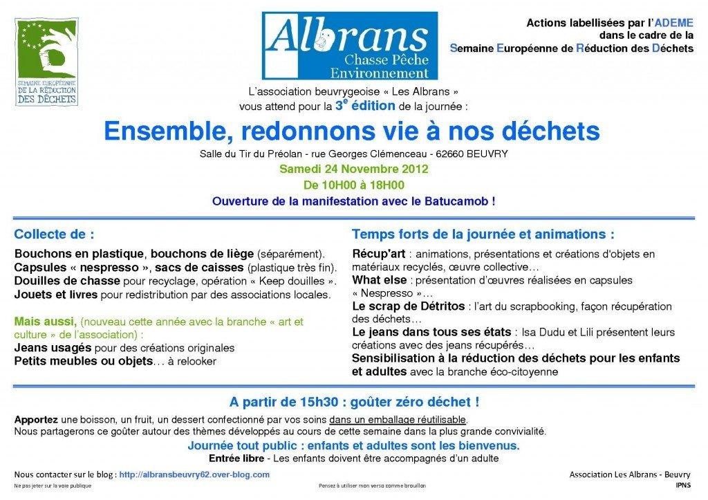 Ensemble, redonnons vie à nos déchets à Beuvry - 3e édition dans Comprendre pour Agir affiche-reduisons-vite-nos-dechets-2012