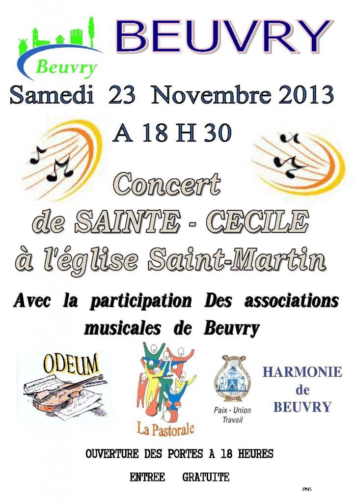 Concert de Sainte Cécile à Beuvry dans Associations affiche-2013-concert-de-st-cecile