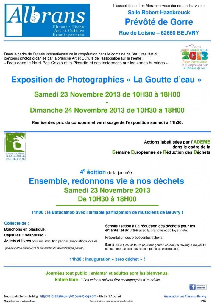 L'année internationale de l'eau et les Albrans dans Comprendre pour Agir affiche-serd-2013-blog-albrans-beuvry
