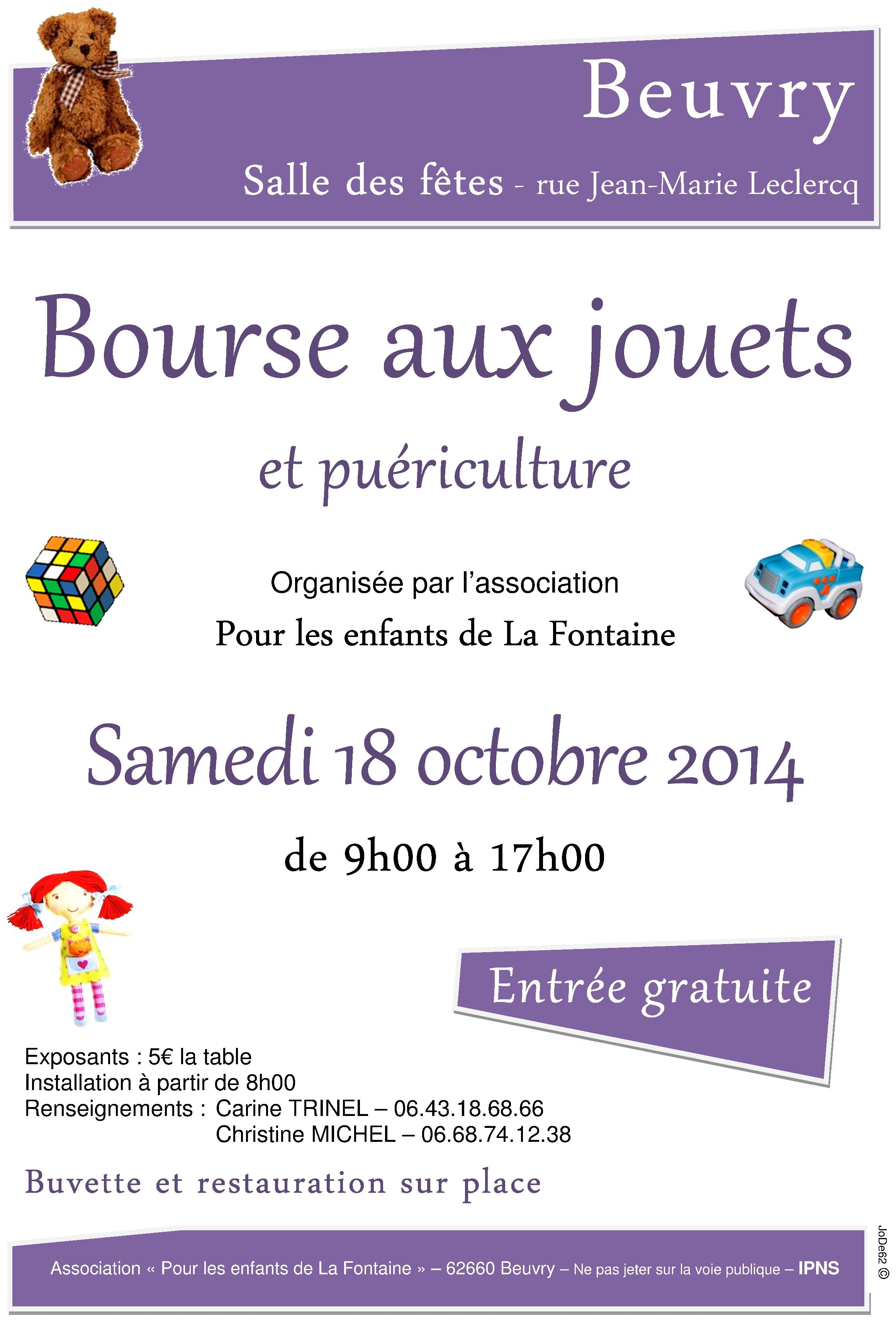 Affiche bourse aux jouets beuvry 2014